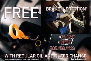FREE Brake Inspection with oil and filter change
