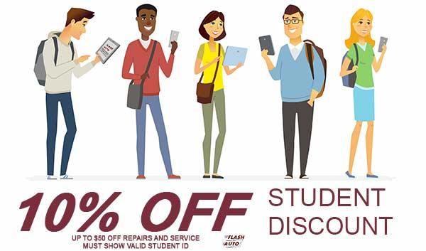 student auto repair discount