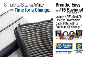 15 dollars off new cabin air filter